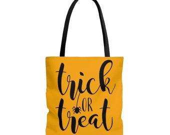 Trick or Treat Tote Bag: Stripes