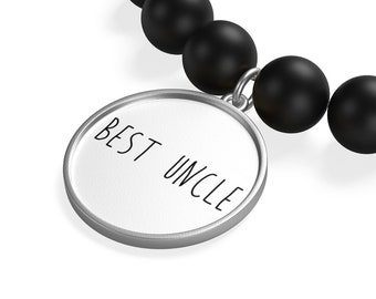 Best Uncle Matte Onyx Bracelet