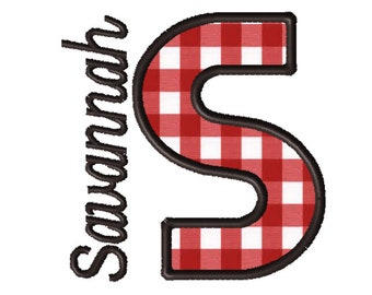 Made To Order - Letter S, CUSTOM Applique Embroidery File: 5x5