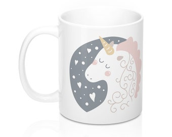 Unicorn Mug, 11oz Mug, Custom Coffee Mug, Tea Mug, Custom Gift, Gift for Her, Stocking Stuffer, Home Decor, Cups, Mugs