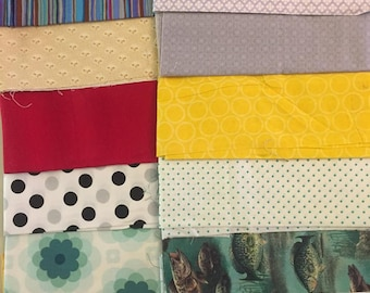 Cotton Fabric Scrap Pack Lot No. 6