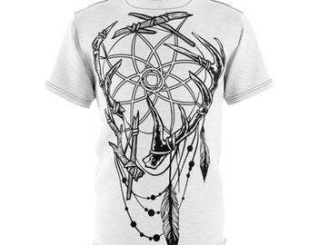 Dreamcatcher & Antlers - Unisex Aop Cut and Sew Tee