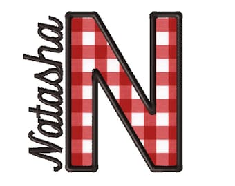 Made To Order - Letter N, CUSTOM Applique Embroidery File: 5x5