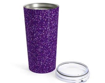 Purple Glitter Printed Tumbler 20Oz