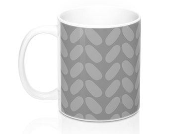 Knit Sweater Design, 11oz Mug, Custom Coffee Mug, Tea Mug, Custom Gift, Gift for Her, Stocking Stuffer, Home Decor, Cups, Mugs