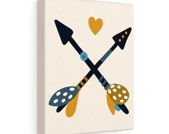 Arrows 8x10 Canvas Art, Home Decor, Wall Art, Canvas Art, Nursery Decor, Living Room Decor, Bedroom Decor, Stretched Canvas