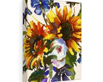8x10 Canvas Art: Sunflower