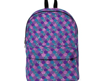 Mermaid Print Backpack