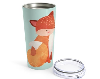 20OZ Tumbler, Stainless Steel: Orange Fox