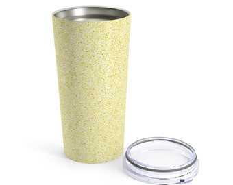 Yellow Glitter Printed Tumbler 20Oz