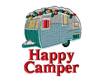 Embroidery File,  Embroidery, PES Format, Digital File, Embroidery Pattern, Machine Embroidery, Happy Camper, Brother, Bernina