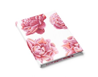 Ruled Line Journal: Floral Pink Roses