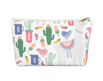 Makeup Bag, Cosmetic Bag, Pencil Case, Modern Bags, Makeup Pouch, T-Bottom Pouch, Zipper Pouch, Accessory Pouch, Gift for Her