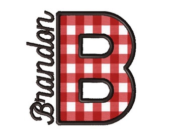 Made To Order - Letter B, CUSTOM Applique Embroidery File: 5x5