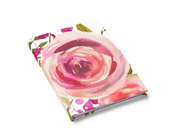 Ruled Line Journal: Pink Rose