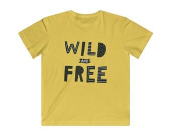 Kids Jersey Tee: Wild & Free