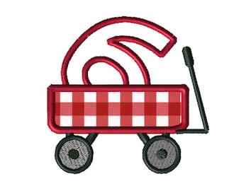 Christmas Wagon No. 6 Applique Embroidery File: 5x5, PES Format