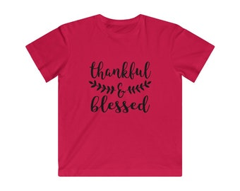 Kids Jersey Tee: Thankful & Blessed