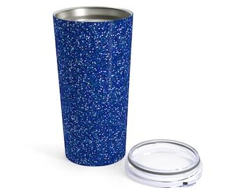 Navy Blue Glitter Printed Tumbler 20Oz