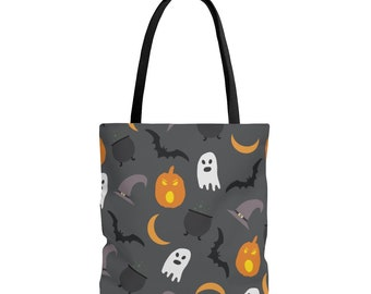 Trick or Treat Tote Bag: Pumpkins and Ghosts