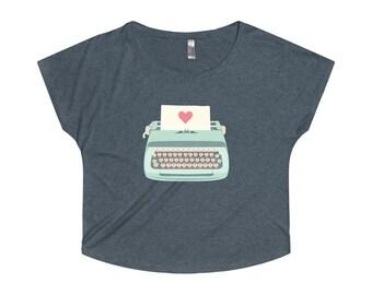 Typewriter Women TriBlend Dolman Shirt
