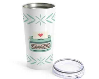 Teal Typewriter Tumbler 20Oz