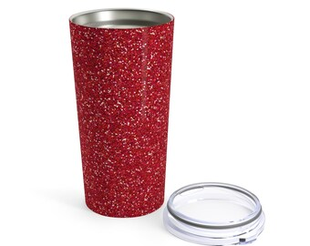 Red Glitter Printed Tumbler 20Oz
