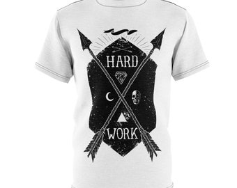 Hard Work - Unisex Aop Cut  Sew Tee