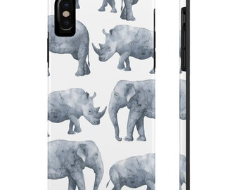 Elephant And Rhino, Case Mate Tough Phone Cases