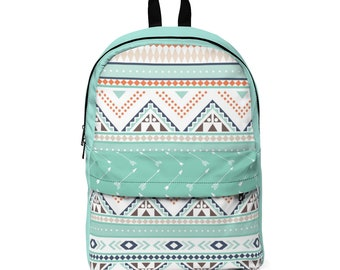 Classic Backpack: Teal Aztec
