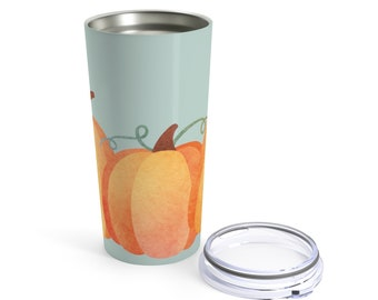 20OZ Tumbler, Stainless Steel: Pumpkin Patch