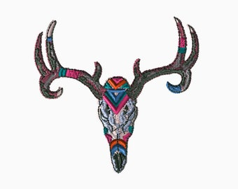 4x4 Embroidery File: Longhorn Skull, Choose Your Size and Format