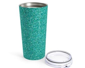 Turquoise Glitter Tumbler 20Oz
