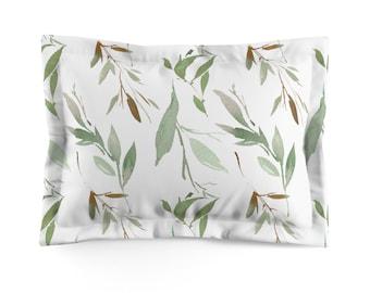 Greenery Microfiber Pillow Sham