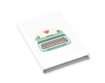 Teal Typewriter Journal  Ruled Line