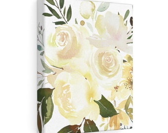8x10 Canvas Art: Yellow Floral