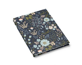 Ruled Line Journal: Blue Floral