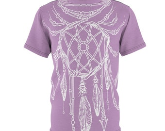 Purple Dreamcatcher - Unisex Aop Cut  Sew Tee