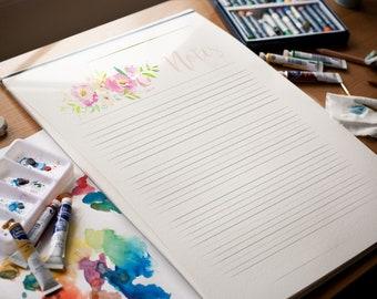 PDF Printable Notes: Boho Pastels