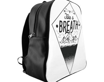 Take A Breath School Backpack