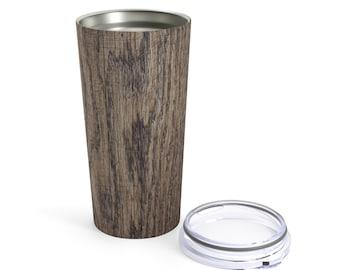 Dark Wood Printed Tumbler 20Oz