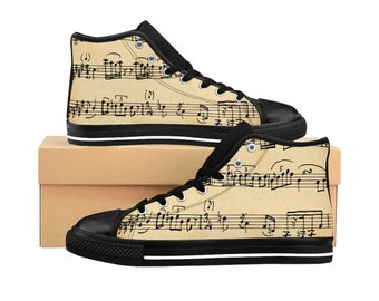 Sheet Music, Mens HighTop Sneakers