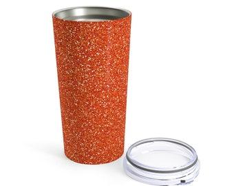 Orange Glitter Printed Tumbler 20Oz