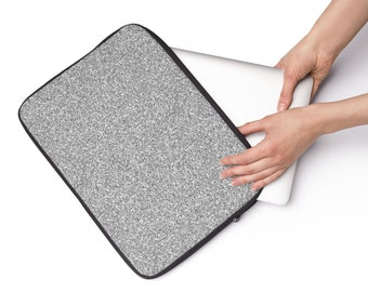 Silver Glitter Laptop Sleeve