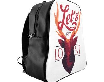 Lets Get Lost School Backpack