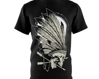 Skull And Feathers - Unisex Aop Cut & Sew Tee