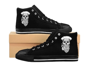 Sailor Skull, Mens HighTop Sneakers
