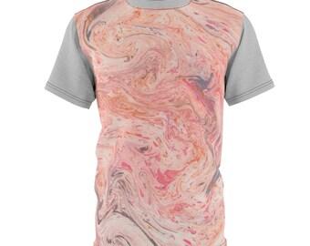 Pink Marble - Unisex Aop Cut  Sew Tee