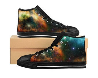 Galaxy, Mens HighTop Sneakers