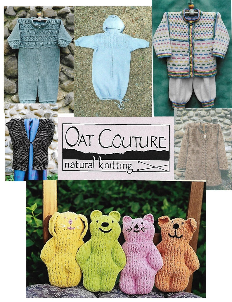 Clearance Prices Many Choices for adults and kids Natural Knitting Patterns OAT COUTURE